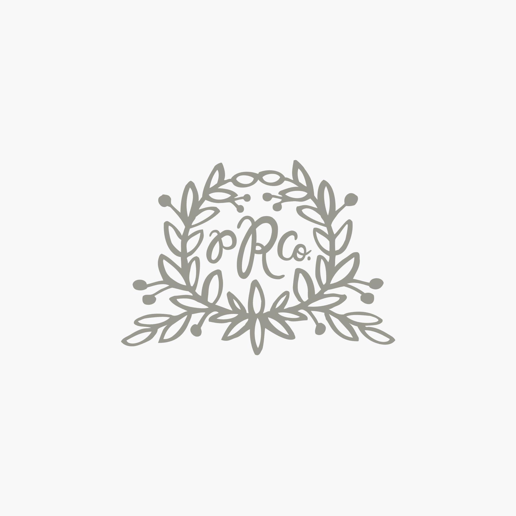 Floral Vines Indigo Wool-Hooked Rug