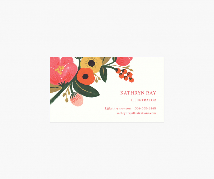 Accent Personalized Business Cards- Garden