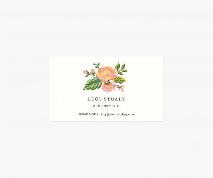 Accent Personalized Business Cards- Jardin De Paris