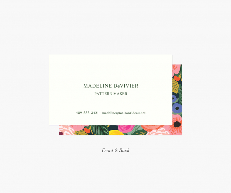 Frame Personalized Business Cards- Juliet Rose