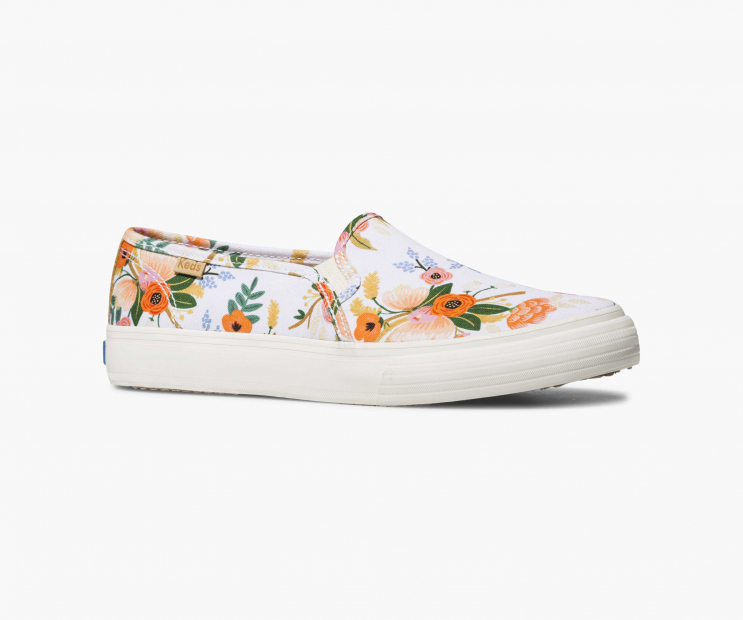 Lively Floral Double Decker Slip-On