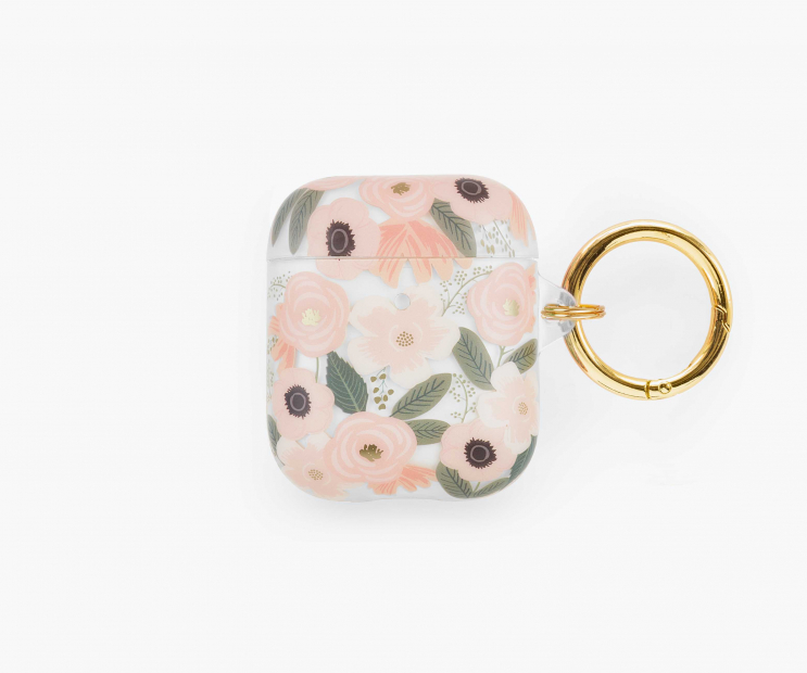 Clear Wildflowers AirPods Case